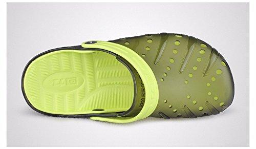 Autunno Il pattino dei nuovi uomini calza i pattini casuali Scarpa respirabile della spiaggia Grande pattino antisdrucciolevole Due scarpe da sandalo dei sandali, verde, UK = 9.5, EU = 44
