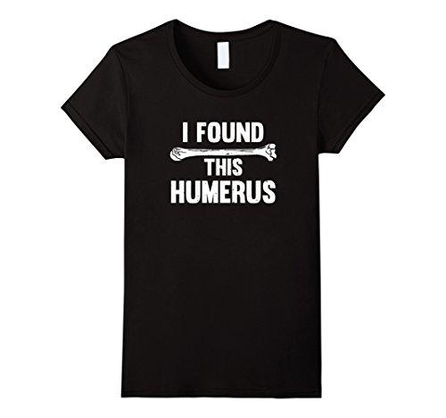 Womens I Found This Humerus X-Ray Technician Radiology T-Shirt XL Black