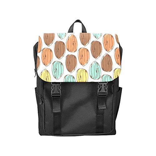 Fashion Flip Cover Notebook Almond Dried Fruit Casual Snack Ideas Print Laptop Backpack Travel Men Women Business Computer Backpack Oxford Fabric Vintage School Shoulder Bag