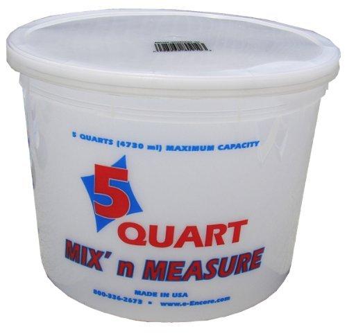 Mix N Measure Container - Encore Plastics 81166 Mix'N Measure Container, 5-Quart by Encore Plastics
