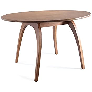 Haven Home Beckett 29 Walnut Round Table Oval Dining Conference