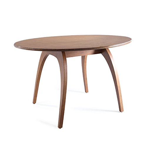 Haven Home Beckett Walnut Round Table, Oval Dining Table Conference Table (Dining Haven Grand)