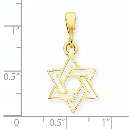 14 carats découpe Star de charme de David-JewelryWeb