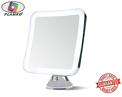 Wide Illuminated Mirror (Plamko Magnifying Makeup Mirror Square 6