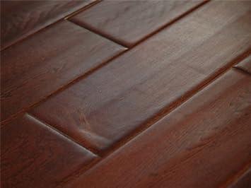 5 Inch Greenland Multilayer Distressed Hand Scraped Hardwood Oak English  Leather Flooring (6 Inch