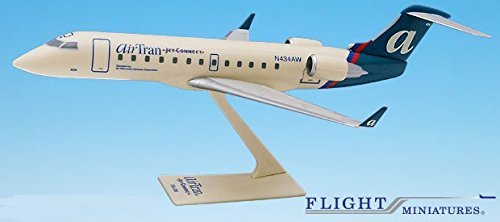 - Air Tran Jet Connect CRJ200 Airplane Miniature Model Plastic Snap-Fit 1:100 Part# ACA-20000C-008