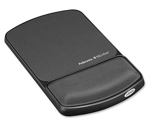 Fellowes Gel Wrist Rest and Mouse Pad with Microban - Graphite (9175101 Gel)