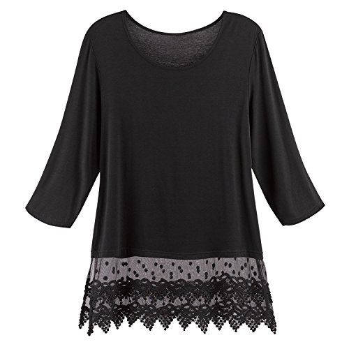 Kaktus Sportswear Women's Lace Trimmed Tunic Top -, used for sale  Delivered anywhere in USA