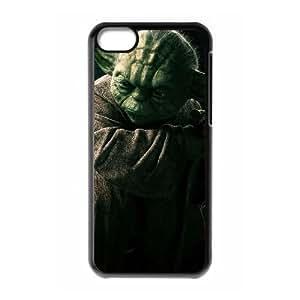F3S60 Star Wars Yoda R0E2QW funda iPhone funda caso 5c teléfono celular cubren DK3QKX8NG negro
