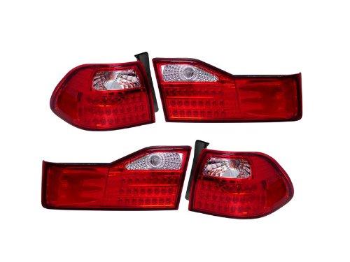 Depo Honda Accord Sedan 01 02 Led Chrome Tail Light - Accord Honda Led Tail Depo