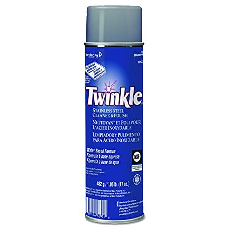 Twinkle 991224 Stainless Steel Cleaner & Polish, 17oz Aerosol (Case of 12)