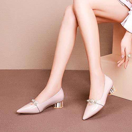 Talons Cuir à Chaussures Pink en Hauts féminins Verni qw6617I