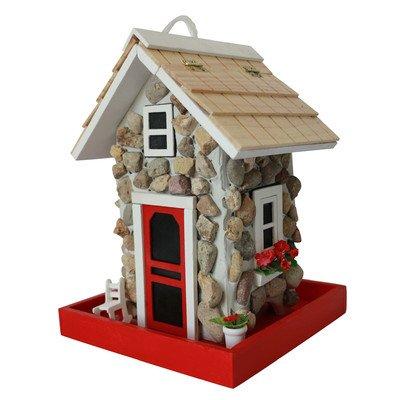 Home Bazaar Hand-Made Premium Fieldstone Cottage Bird Feeder - Bird Friendly - Home Decor