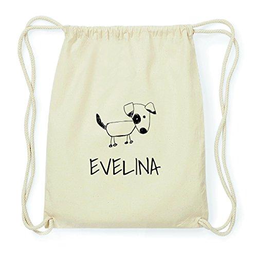 JOllipets EVELINA Hipster Turnbeutel Tasche Rucksack aus Baumwolle Design: Hund