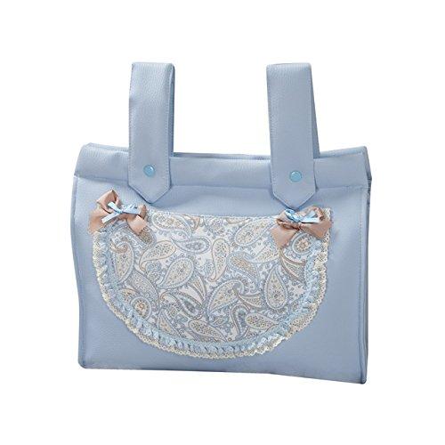 Babyline Caramelo - Bolso panera para silla, color rosa Azul