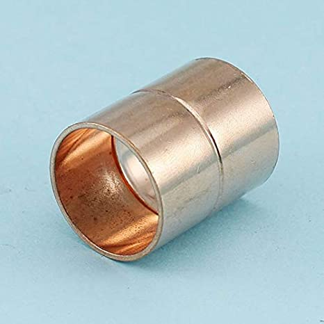 Size : ID 6.35mm No logo 1pcs 6mm-35mm 99.9/% Red Copper Connectors Straight Coupling For Air Condition Copper Piping System