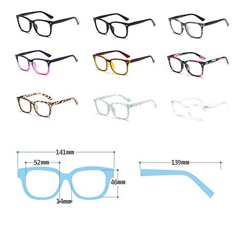 transparentes lentes FuyingdaGlasses for Women Gafas de de plástico Men cuadradas C34 Gafas CfYwYaq