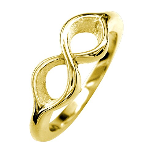 Infinity Ring Couple in 14K Yellow Gold size 6 by Sziro Infinity Rings