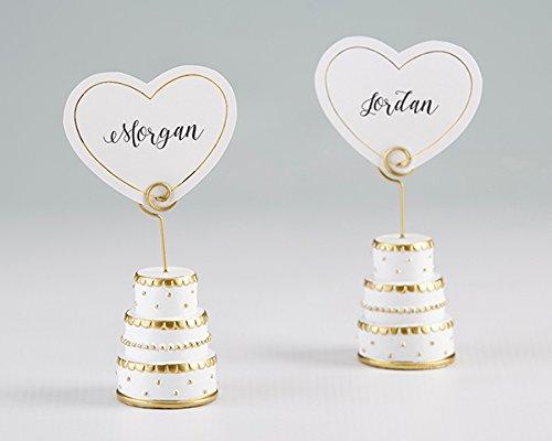(Kate Aspen Gold Wedding Cake Place Card Holder (Set of 6))