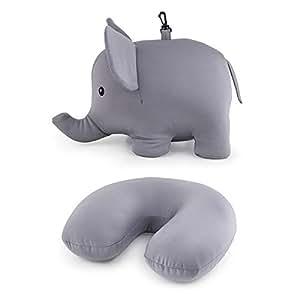 Amazon Com Kikkerland Zip And Flip Elephant Travel Pillow