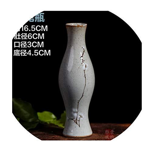 (Mini Ceramic Porcelain Flower Vase for Home and Centerpieces Decoration,Navy)