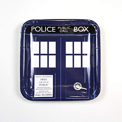 Underground Toys Doctor Who Large Party Plates, Set of 8 -
