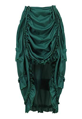 Victorian Burlesque Costumes - frawirshau Steampunk Skirt Ruffle Dress Show