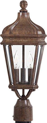Minka Lavery Outdoor Post Lights 8695-61 Harrison Cast Aluminum Exterior Lighting Fixture, 120 Watts, Rust