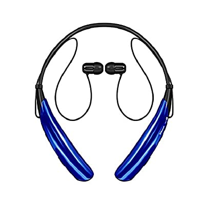 Bluetooth Headsets, Sports Headphones, Wireless Earphones, Bluenin HBS-750 Bluetooth V4.0 Neckband Earbuds for Iphone, Samsung, Sony, Htc, Lg, Smartphone and Other Bluetooth Enabled Device