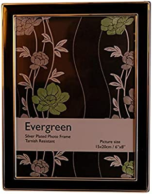 Evergreen Tarnish Resistant Rose Gold Plated Thin Edge Double Photo//Picture Frame 5x7 inch 12x17cm