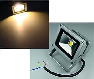 Foco led para exterior (led de 10 W, IP65, 230 V, 1000 lm, 3000 K, luz blanca cálida)
