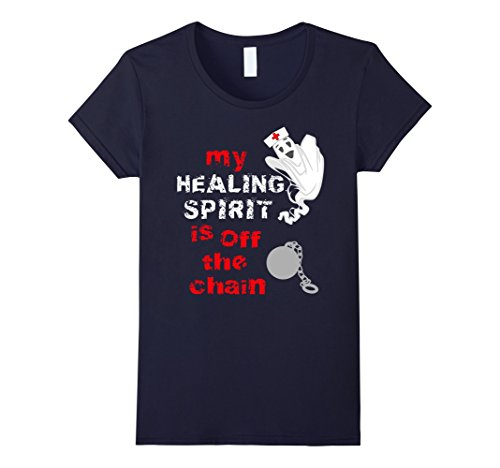 Womens Funny Halloween Medical Ghost Chain T-Shirt for Nurses XL (Halloween Costumes For Medical Office)