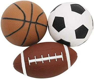 LIOOBO 3pcs Mini Pelotas Deportivas Suaves Baloncesto Fútbol ...