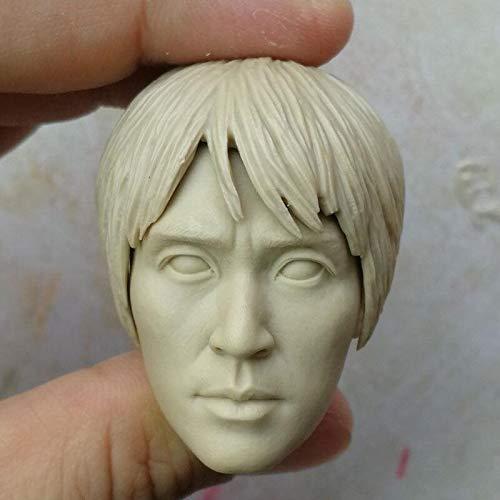 KIKIHAN 1/6 Scale Blank Head Sculpt Stephen Chow Shaolin Soccer Unpainted Fit 12