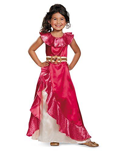 Disguise Elena Adventure Dress Classic Elena of Avalor Disney Costume, XS/3T-4T (Halloween Costume Disney Princess)