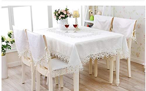 (YRRW European Embroidery Princess White Table Cloth mat Tablecloth lace Tablecloth Table Dinner Ornament Runner Square Garden White 150150)