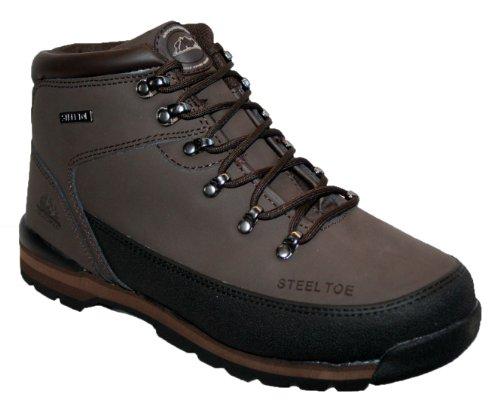 Groundwork GR86 S Zapatos de Seguridad de Cuero, Unisex marrón