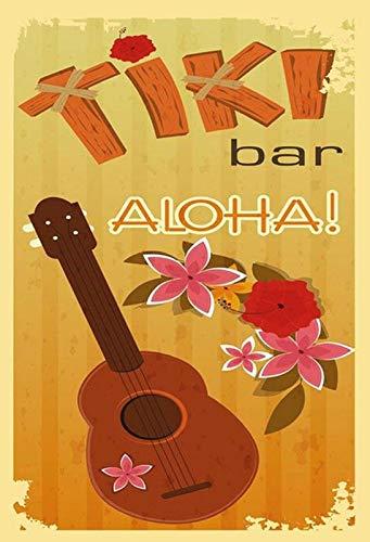 Cartel de Chapa genérica 20 x 30 cm The Tiki Bar Aloha Music ...