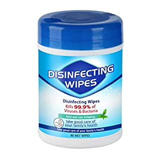 𝐃isinfectiing Wet Wipes, Wet 𝙒ipes 75% A1cohol Barrel Wet 𝙒ipes 80 Sheets Canned Wet 𝙒ipe (Blue-80 Sheets)