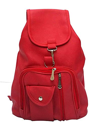TIP TOP FASHION Satin Red Backpack for Women
