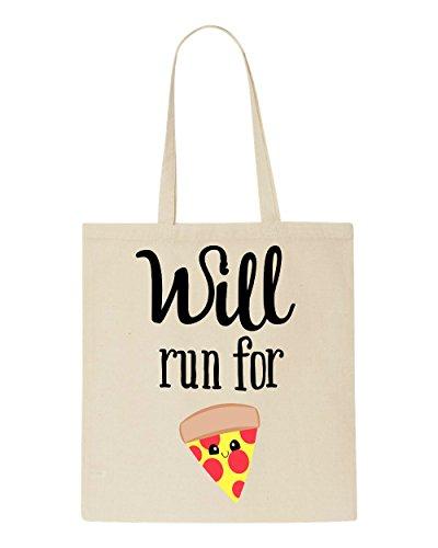 Funny Will Anti For Beige Pizza Run Bag Workout Tote Shopper vwwtqZ