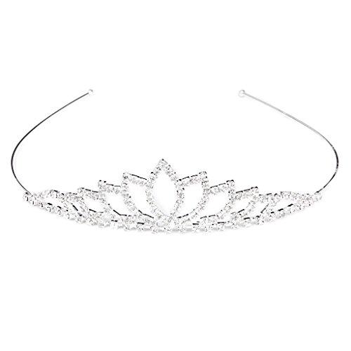 SODIAL(R) Wedding Women Girl Rhinestone Headband Head Crown Princess Jewelry -