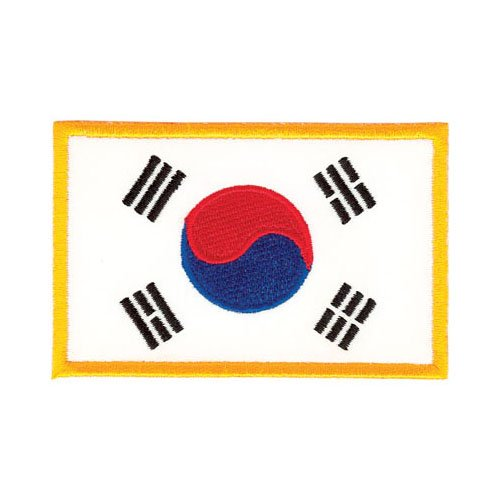 """Tiger Claw Korean Flag Patch - 3 1/2"""" wide"""