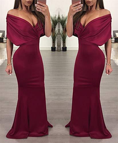 Vino Rojo Sexy Xyzjia Moda Cadera Vestido De M Falda wwqv1Z