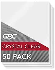 GBC Laminating Sheets, Thermal Laminating Pouches Letter Size, 10mil, HeatSeal Crystal Clear, 50 Pack (3200405)