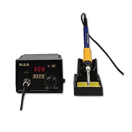 OUKANING Estación de Soldadura, 60W Digital 200-480℃ Kit del Soldador Eléctrico Profesional