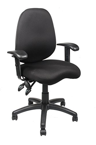 Office Factor Mesh Office Chair, Ergonomic Synchro Mechanism Office Task Computer Desk Chair. Double Handle Synchronized Mechanism With Adjustable Arm Rest and Lumbar Support by OFFICE FACTOR