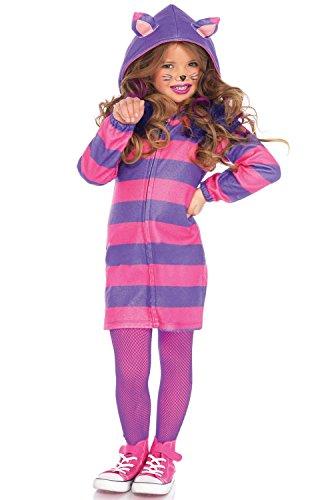 [Leg Avenue Children's Wonderland Cheshire Cat Cozy Costume, Pink/Purple;Small(4/6)] (Wonderland Cat Costumes)