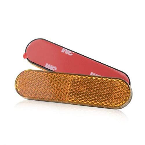 1 x Motorrad-Reflektor gelb randlos 96mmx24mm selbstklebend 3M Seitenstrahler Katzenauge Roller Quad E-gepr/üft