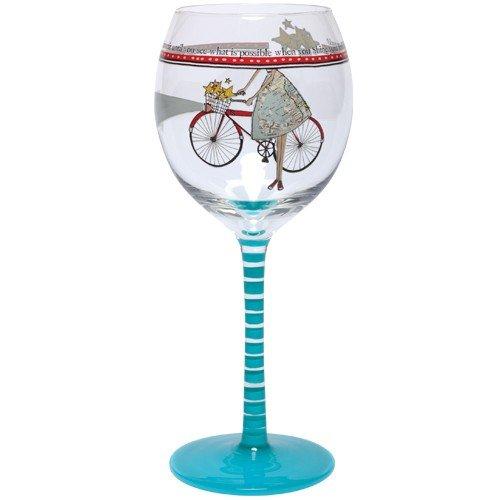 Santa Barbara Design Studio Curly Girl Design, Striped Stem Wine Glass and Matching Tin, Shine Your - Barbara Stripes Santa